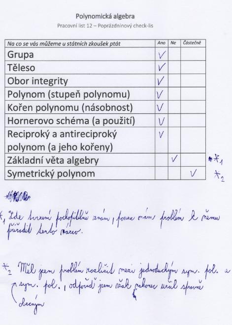 Nový checklist